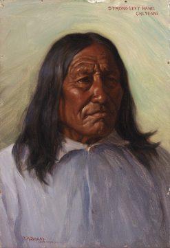 Strong Left Hand | Joseph Henry Sharp | Oil Painting