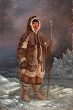 Eskimo Man | Antonio Zeno Shindler | Oil Painting
