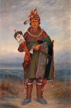 Sac and Fox Indian | Antonio Zeno Shindler | Oil Painting