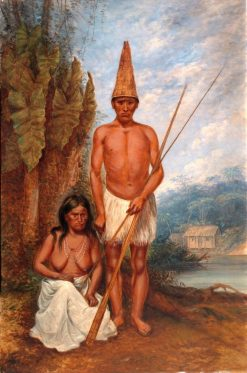 Omagua Indians | Antonio Zeno Shindler | Oil Painting