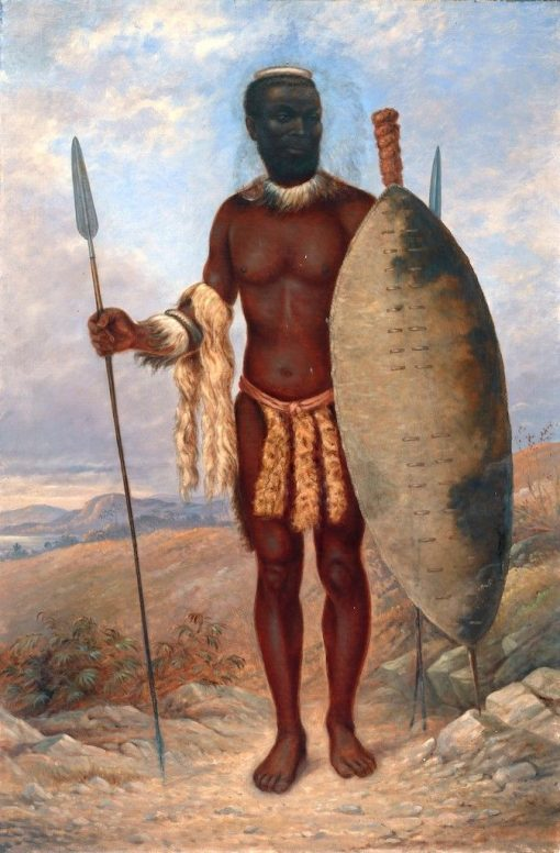 Zulu Man | Antonio Zeno Shindler | Oil Painting