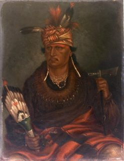 Chetan-woa-kutoa-mang (The Hawk Who Hunts Walking)   Antonio Zeno Shindler   Oil Painting