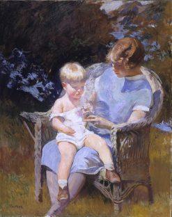 Marjorie and Little Edmund | Edmund Tarbell | Oil Painting