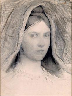 Head of Mary B. Thayer   Abbott Handerson Thayer   Oil Painting