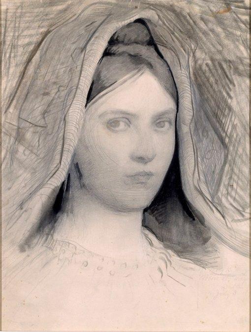 Head of Mary B. Thayer | Abbott Handerson Thayer | Oil Painting
