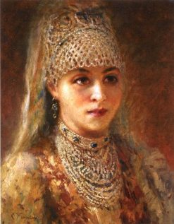 Young Boyarina | Konstantin Yegorovich Makovsky | Oil Painting