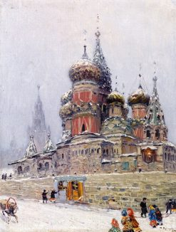 St. Basil's Cathedral in Winter   Nikolai Nikanorovich Dubovskoy   Oil Painting