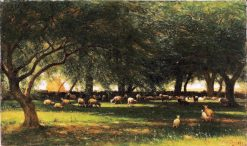 Noon in the Orchard | Thomas Worthington Whittredge | Oil Painting