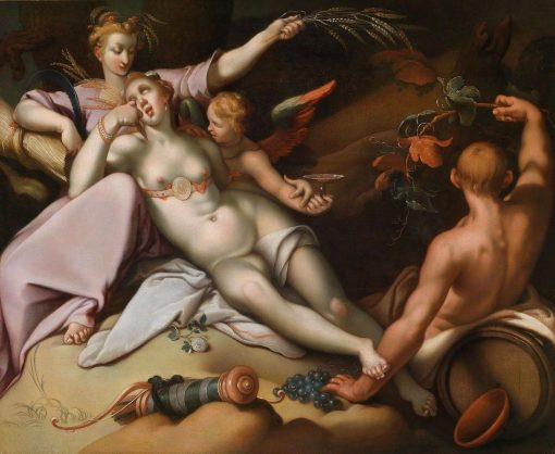 Sine Baccho et Cenere friget Venus   Abraham Bloemaert   Oil Painting