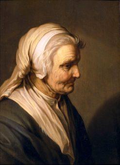 Old Woman   Abraham Bloemaert   Oil Painting