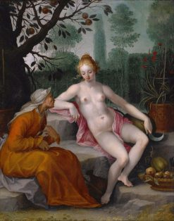 Vertumnus and Pomona | Abraham Bloemaert | Oil Painting