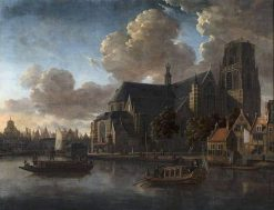 View of the Laurenskerk Seen from Northeast | Abraham Jansz. Storck | Oil Painting
