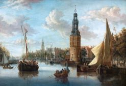 Embarkation of Company Tropps at the Montelbaan Tower | Abraham Jansz. Storck | Oil Painting