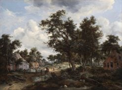 A Wooded Landscape with Travelers on a Path through a Hamlet | Abraham Jansz. Storck | Oil Painting