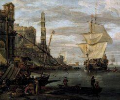 Harbor Scene | Abraham Jansz. Storck | Oil Painting
