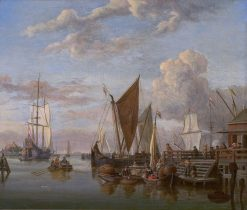 View of the IJ at Amsterdam | Abraham Jansz. Storck | Oil Painting