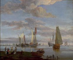 Ships on a Calm Sea | Abraham Jansz. Storck | Oil Painting
