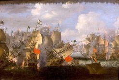 Naval Combat | Abraham Jansz. Storck | Oil Painting