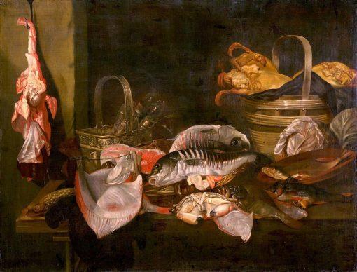 Still Life with Fish and Lemons | Abraham van Beyeren | Oil Painting