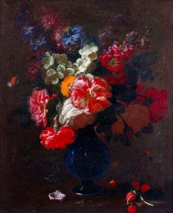 Flowers in a Vase on a Ledge | Abraham van Beyeren | Oil Painting