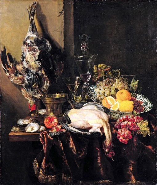 Still Life with Fruit and Fowl | Abraham van Beyeren | Oil Painting