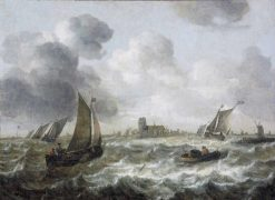 River View with Dordrecht in the Distance | Abraham van Beyeren | Oil Painting