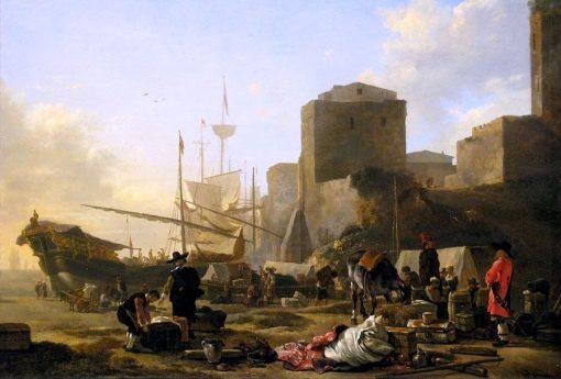 Mediterranean Harbor | Adam Pynacker | Oil Painting