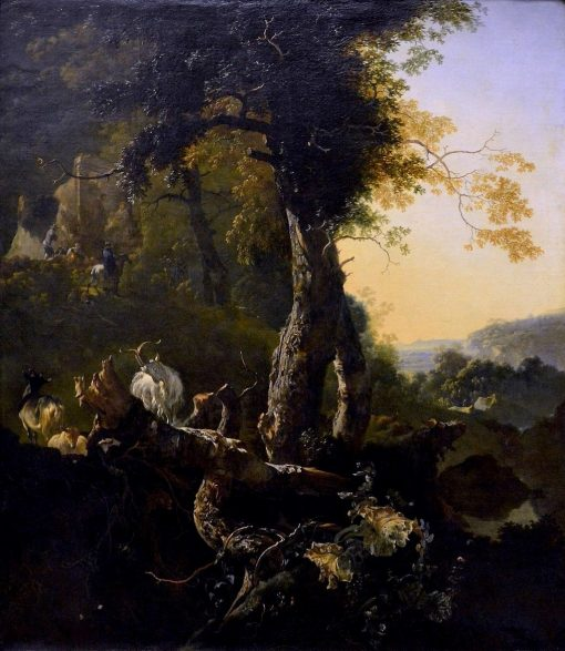 Landscape at Sunrise   Adam Pynacker   Oil Painting