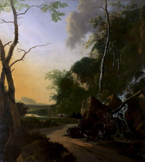 Italianate landscape with crab fishers | Adam Pynacker | Oil Painting