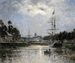 Caen: the Saint-Pierre Harbor and the Abbaye aux Dames