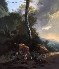Landscape with Enraged Ox | Adam Pynacker | Oil Painting