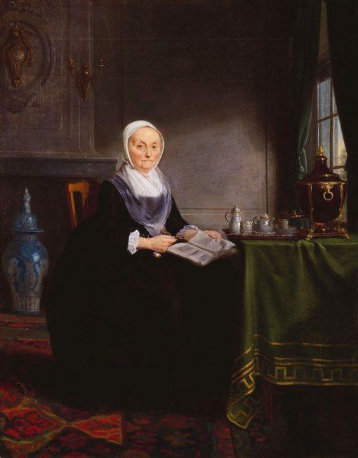 Portrait of Hendrick de Hartog   Adriaan de Lelie   Oil Painting