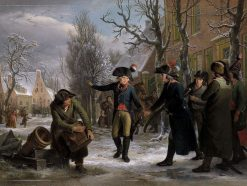 General Daendels Taking Leave of Lieutenant-Colonel Krayenhoff | Adriaan de Lelie | Oil Painting
