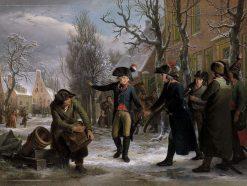 General Daendels Taking Leave of Lieutenant-Colonel Krayenhoff | Adriaan de Lelie | Oil Painting