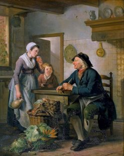 Morning Visit | Adriaan de Lelie | Oil Painting