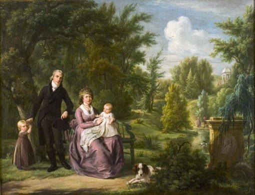 A Family in Elswout | Adriaan de Lelie | Oil Painting