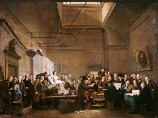 The Drawing Gallery of the Felix Meritis Society | Adriaan de Lelie | Oil Painting