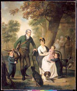 Family Portrait of Jonkheer Gysbert Carel Rutger Reinier van Brienen van Ramerus.... | Adriaan de Lelie | Oil Painting