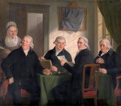 Regents of the Oudezijds Almshouse | Adriaan de Lelie | Oil Painting