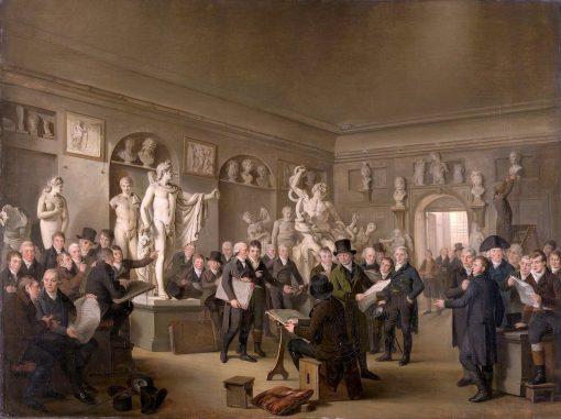 The Sculpture Gallery of the Felix Meritis Society | Adriaan de Lelie | Oil Painting
