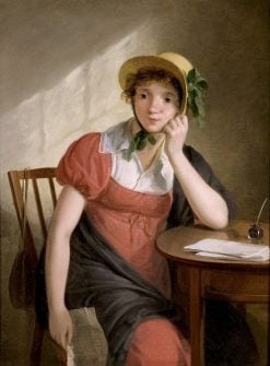 Girl with Letter   Adriaan de Lelie   Oil Painting