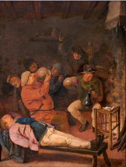 Interior of an Inn | Adriaen Brouwer | Oil Painting