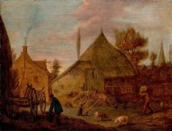The Farmyard | Adriaen Brouwer | Oil Painting