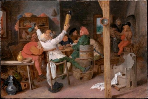 Peasants Carousing in a Tavern | Adriaen Brouwer | Oil Painting