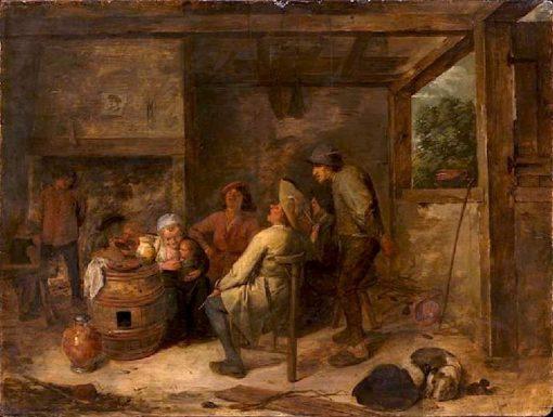 Peasant Quartet   Adriaen Brouwer   Oil Painting