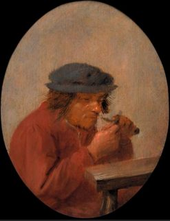 A peasant cutting his thumbnail | Adriaen Brouwer | Oil Painting