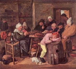 Peasants in an Interior | Adriaen Brouwer | Oil Painting