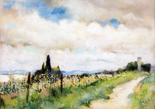 Hillside Path in Spring | Lesser Ury | Oil Painting