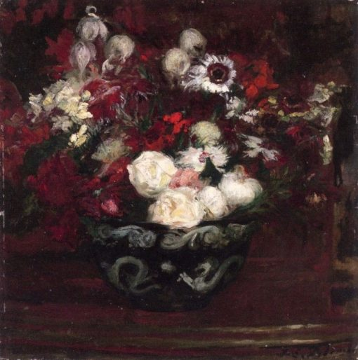Bouquet of Flower and Chinese Bowl | Jacques-Émile Blanche | Oil Painting