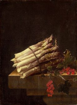 Still Life with Asparagus and Red Currants | Adriaen Coorte | Oil Painting